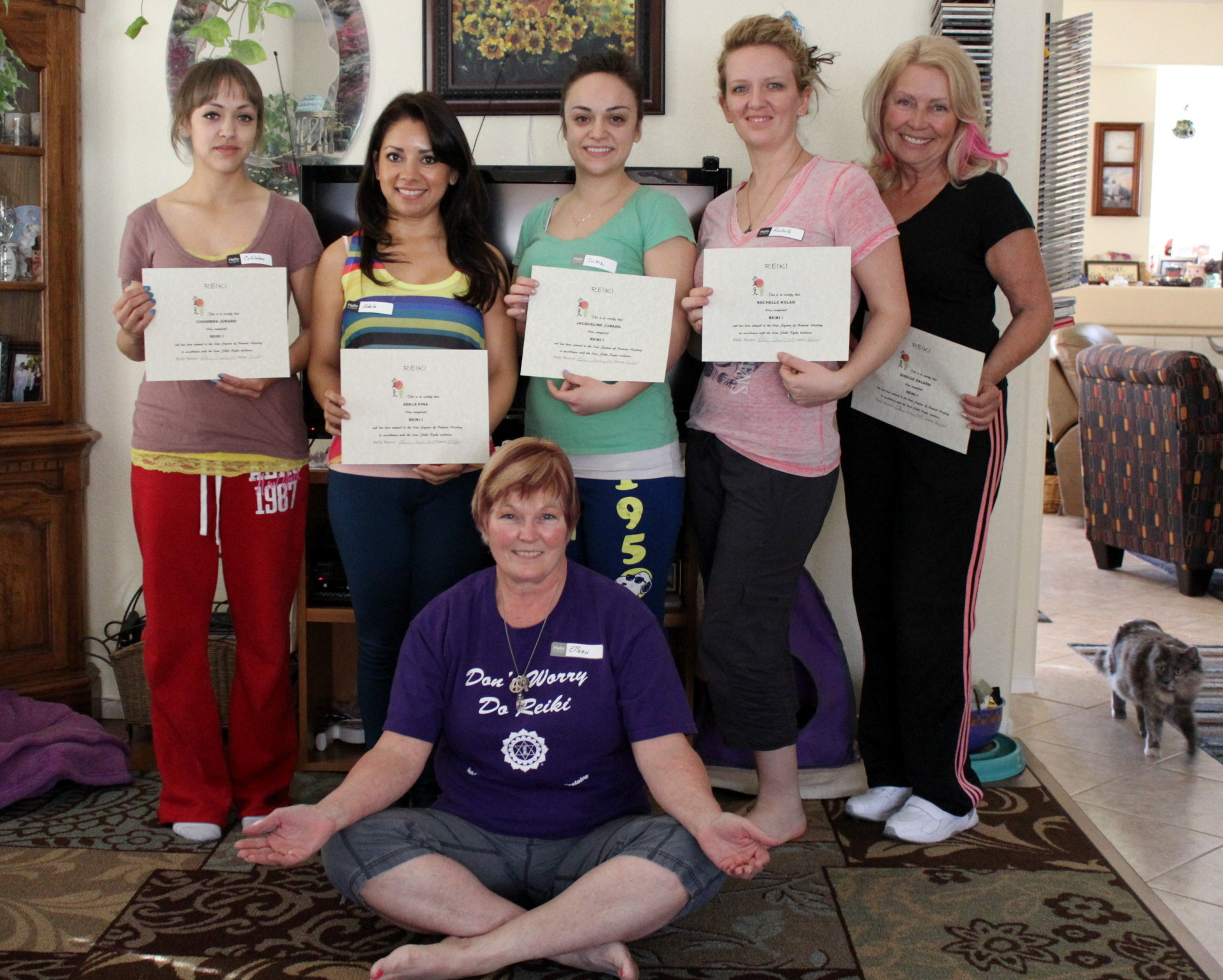 Reiki 1 Certification Class Las Vegas with Reiki Master Eileen at Anne Penman Reiki Las Vegas 2013